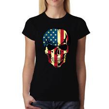 Cranio Americano Stati Uniti d'America Donna T-Shirt XS-3XL