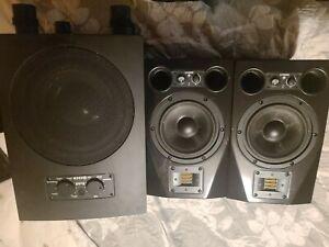 Adam Audio A7x Active Powered Studio Monitor Speakers X2 & Adam Audio Sub 8