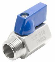 "3/8"" Stainless Steel mini ball valve 316 Male to Female NPT"