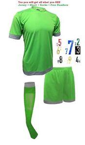 Soccer Green and Grey Sarson Bremen Soccer Uniform Kit Jersey Shorts and Socks
