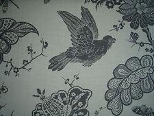 "SCHUMACHER CURTAIN FABRIC DESIGN ""Bali Vine"" 4.6 METRES CHARCOAL SKU - 174372"