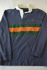 Polo Ralph Lauren Rugby Long Sleeve Size M navy orange