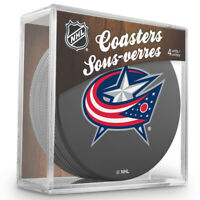 Columbus Blue Jackets NHL Team Logo Hockey Puck Coasters (Package of 4) in Cube