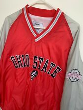 Ohio State Buckeyes Jacket Pullover Men's Size XL Red Stitched Windbreak Vintage