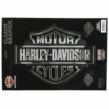 Biker Harley Davidson HD Classic Logo Chrom Emblem Aufkleber Decal Sticker Groß