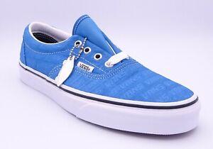 Vans Era Emboss Unisex Blue Leather Low Top Lace Up Plimsoles Size UK 5 EUR 38
