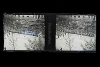 Paris The parade of / the 14 july 1919 Great War WW1 Plate stereo NEGATIVE