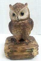 "Vintage Ceramic OWL Music Box by Gorham, Plays ""Beautiful Dreamer"" 6"" Tall"