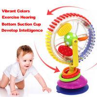 Baby Kid Child Sassy Rainbow Observe Ferris Wheel Rattle Suction High Chair Toy!