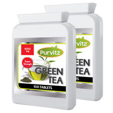 Green Tea 1000mg 200 Tablets Candida Detox Diet Weight Loss Health UK Purvitz