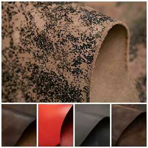 """8sqft 40""""x30"""" PIT TANNED HARNESS VEG TAN LEATHER HIDES- 8 Colours & Thickness-"""