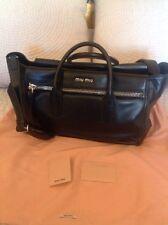 100% Genuine Miu Miu Black Leather Tote Bag BNWT