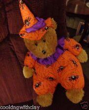 """SUGAR LOAF HALLOWEEN STUFFED  PLUSH TEDDY  BEAR DRESSES  AS SPIDER  CLOWN  15"""""""