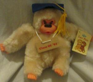 Vintage Russ Berrie Gonga Ape Graduation Class Of '94 Monkey Thumb Sucking Mint