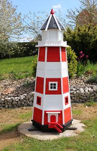 Leuchtturm Garten aus Holz klein und groß auch mit Solarbeleuchtung