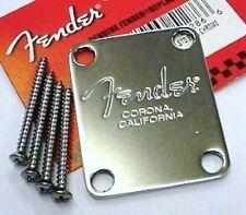 Fender-Corona california chrome neck plate