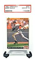 1992 Upper Deck Pirates HR King BARRY BONDS Baseball Card PSA 10 GEM MINT Pop 33