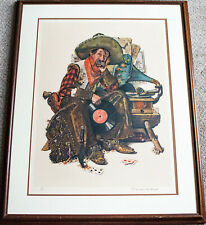Norman Rockwell Pencil Signed Dreams of Long Ago Cowboy Lithograph /200 Framed