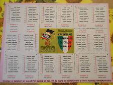 """CALENDARIO CAMPIONATO DI CALCIO 1962-63 DI SERIE """" A"""""""