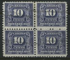 Canada 1930 10 cent Postage Due used block of 4