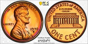 1970 S Lincoln Proof Penny PCGS PR66 RB Toned Large Date Registry Coin TV 1C