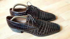 A. Testoni Homme Vintage Design Italien Chaussures en Croco Taille 8.5