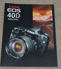 Canon EOS-40D Factory Sales Brochure 25 Color Pages Original