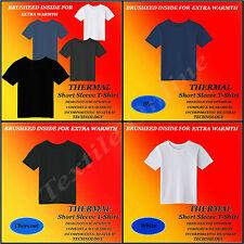 Thermal Men's Short Sleeve T-Shirt Optimum Comfort Blue Charcoal White M-L-XL