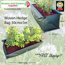 Woven HEDGE Bags (30cm x 1m) planter bags Landscape Plant Growbag Herb Vegetable