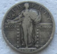 1921 25C Standing Liberty Quarter Rare Date VF          We Have The Tough Dates!