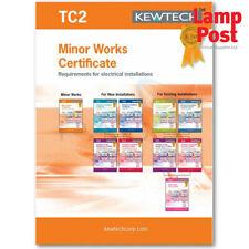 Kewtech Corporation TC2 Electrical Installation Minor Works Certificate