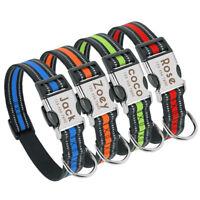 Personalized Dog Collar Reflective Metal Buckle Large Dogs Labrador Nylon Collar