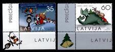 Weihnachten. Weihnachtsmann, Rentier, Drachen. 2W. Eckrand(3). Lettland 2011