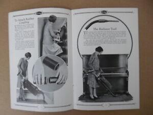 1929 Air-Way Sanitary System Vacuum Cleaner Operating Manual + Brochure Vintage