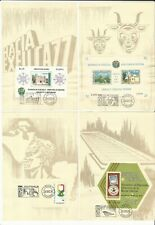 Venezuela: Lot of 11 sheets with stamps with special postmarks included...VE2621