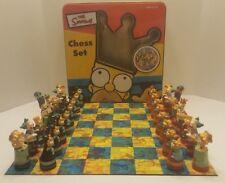 THE SIMPSONS 3-D Chess Game Set Vintage Cardinal 98 Collectors Tin
