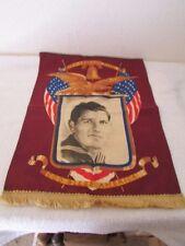 Vintage Veteran Photo On Canvas Flag God Bless America Let Freedom Ring