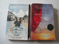 DAVE EGGERS LOT OF 2 PAPERBACKS Zeitoun Heartbreaking Work of Staggering Genius