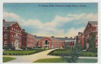1945 Postmarked Postcard Campus Scene Wesleyan College Macon Georgia GA