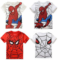 Kinder Jungen Mädchen T-shirt Cartoon Spiderman T-shirts Oberteile