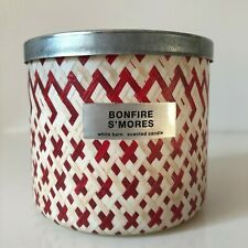 Bath & Body Works ~ BONFIRE S'MORES ~ 3-Wick Candle  *Free Expedited Shipping*