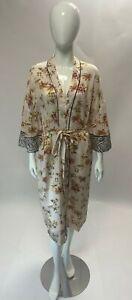 Ladies Ex M&S Dressing Gown Kimono Pink Tropical and Zebra Print Sizes 8-18 New