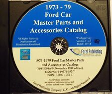 1973 - 1979 FORD MUSTANG GALAXIE LTD BROUGHAM MAVERICK MASTER PARTS CATALOG CD