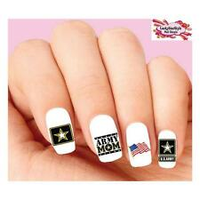 Waterslide Nail Decals Set of 20 - United States US Army Mom Assorted