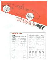 """1966 SHELBY COBRA SPORTS/COMPETITION  ROADSTER """"427"""" 2-COLOR SALES BROCHURE"""