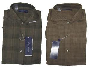 Ralph Lauren Purple Label Italy Mens Linen Keaton Collar Button Dress Shirt New