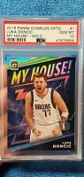 2019 Luka Doncic Panini Donruss Optic My House Holo Silver PSA 10 GEM MINT
