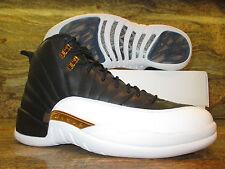 2016 Nike Air jordan 12 XII Retro WINGS SZ 9 Black White Gold Playoff 848692-033