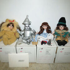 Marie Osmonds Tiny Tots Wizard Of Oz Doll Set of 4 New NIB COA