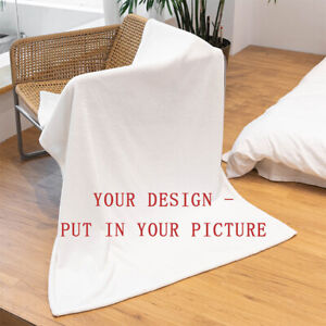 Picture Custom Blanket Photo Personalize Throw Bed Flannel Fleece for Adult Baby